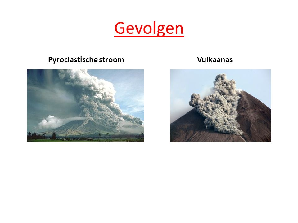 Gevolgen Pyroclastische stroom Vulkaanas