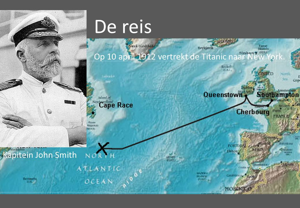 De reis Op 10 april 1912 vertrekt de Titanic naar New York.