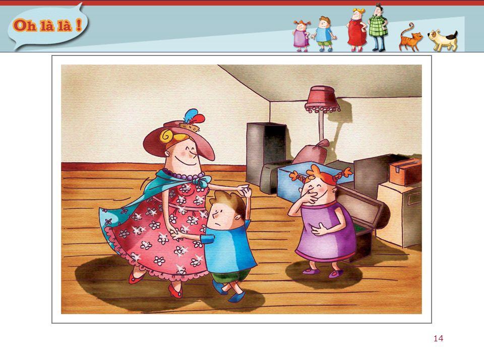 Dit is een voorbeeldprent bij het verhaal uit het thema 'La danse des princesses' van het eerste leerjaar.