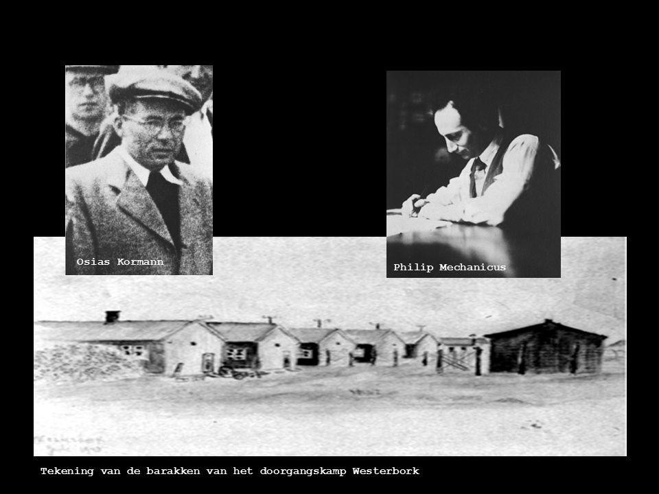 Osias Kormann Philip Mechanicus Tekening van de barakken van het doorgangskamp Westerbork