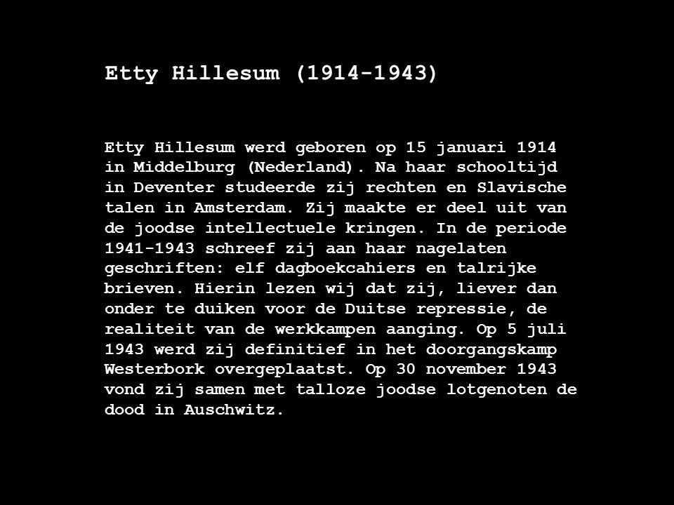 Etty Hillesum (1914-1943)