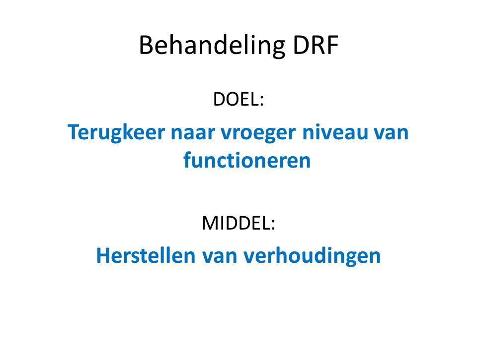 Behandeling DRF Terugkeer naar vroeger niveau van functioneren