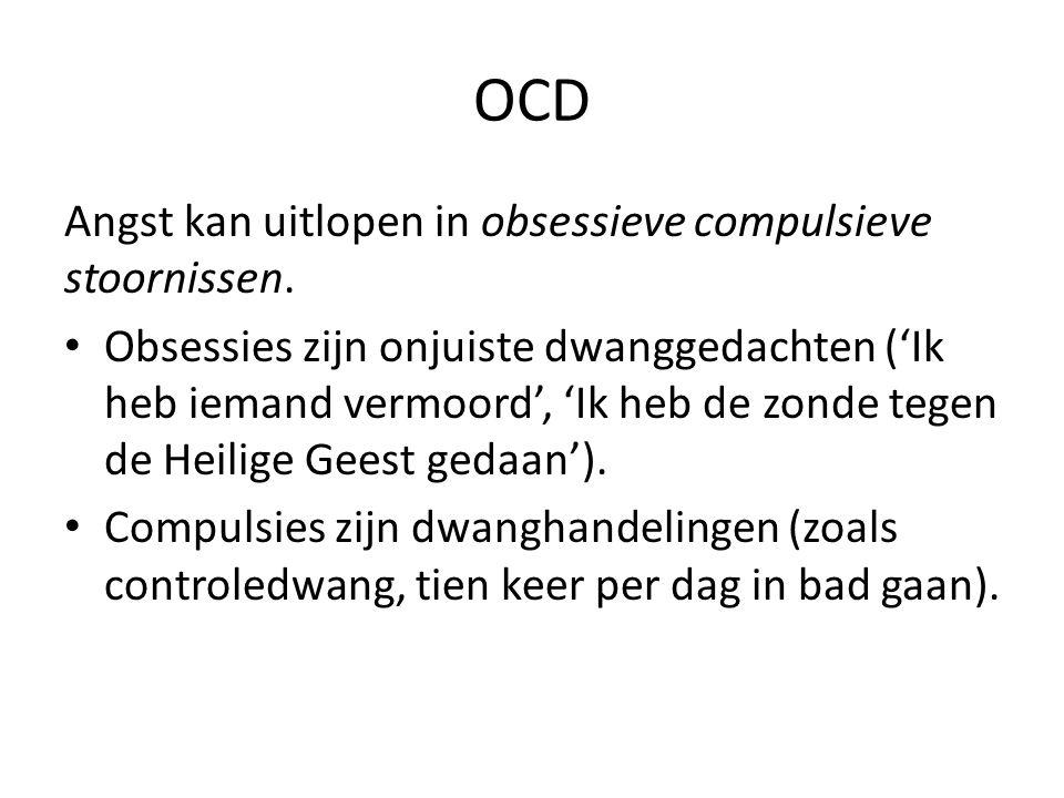 OCD Angst kan uitlopen in obsessieve compulsieve stoornissen.