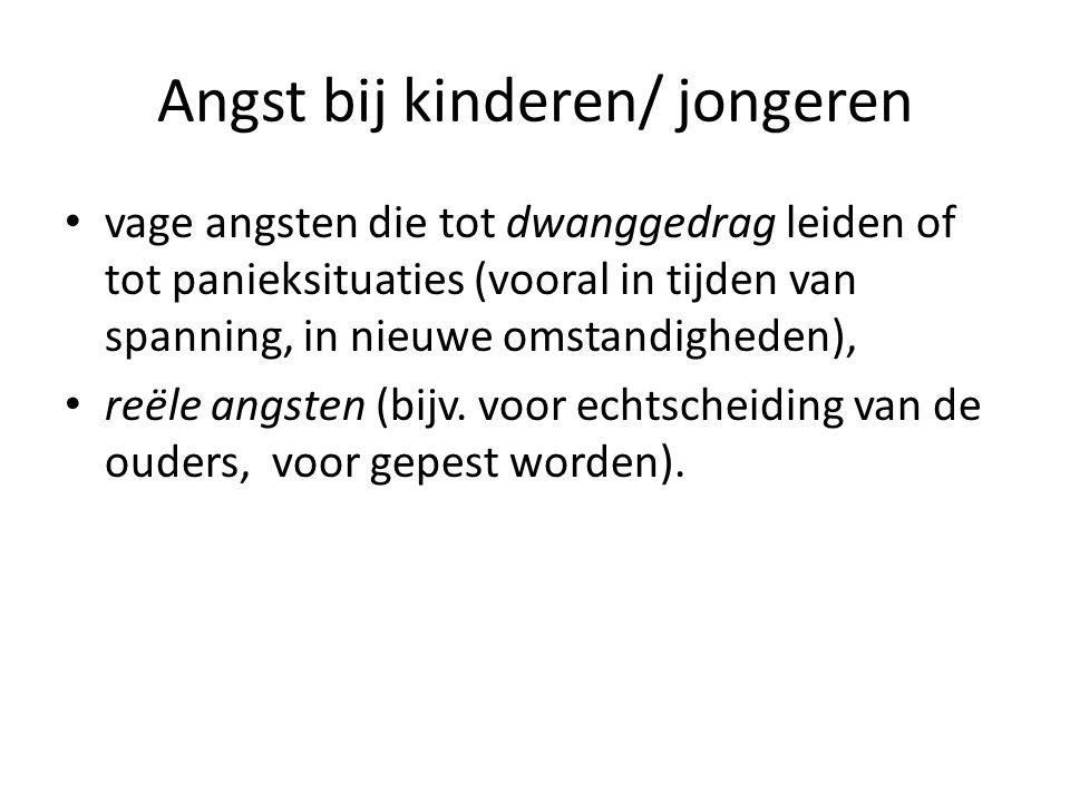 Angst bij kinderen/ jongeren