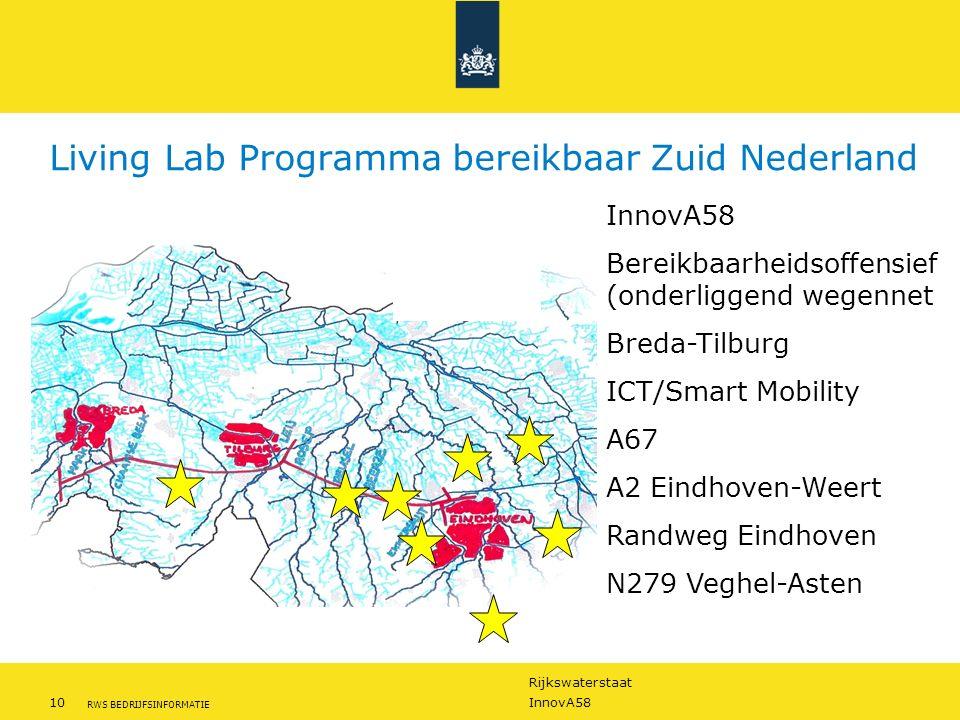 Living Lab Programma bereikbaar Zuid Nederland
