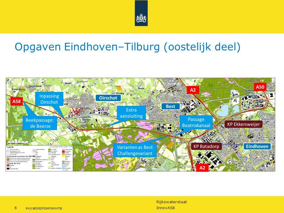 Opgaven Eindhoven–Tilburg (oostelijk deel)