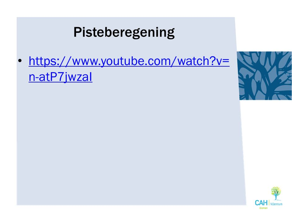 Pisteberegening https://www.youtube.com/watch v=n-atP7jwzaI