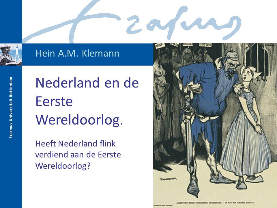 Nederland en de Eerste Wereldoorlog.
