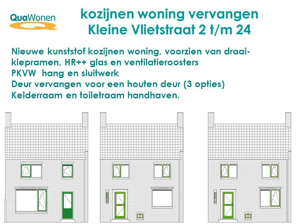 kozijnen woning vervangen Kleine Vlietstraat 2 t/m 24