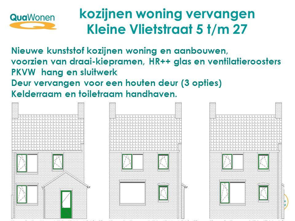kozijnen woning vervangen Kleine Vlietstraat 5 t/m 27