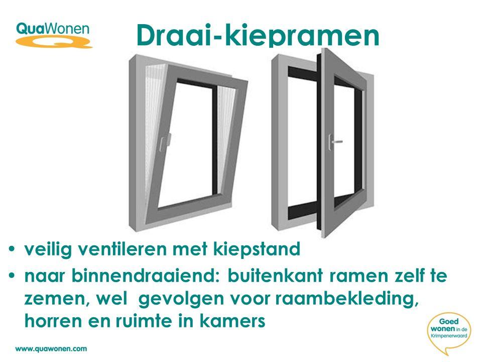 Draai-kiepramen veilig ventileren met kiepstand