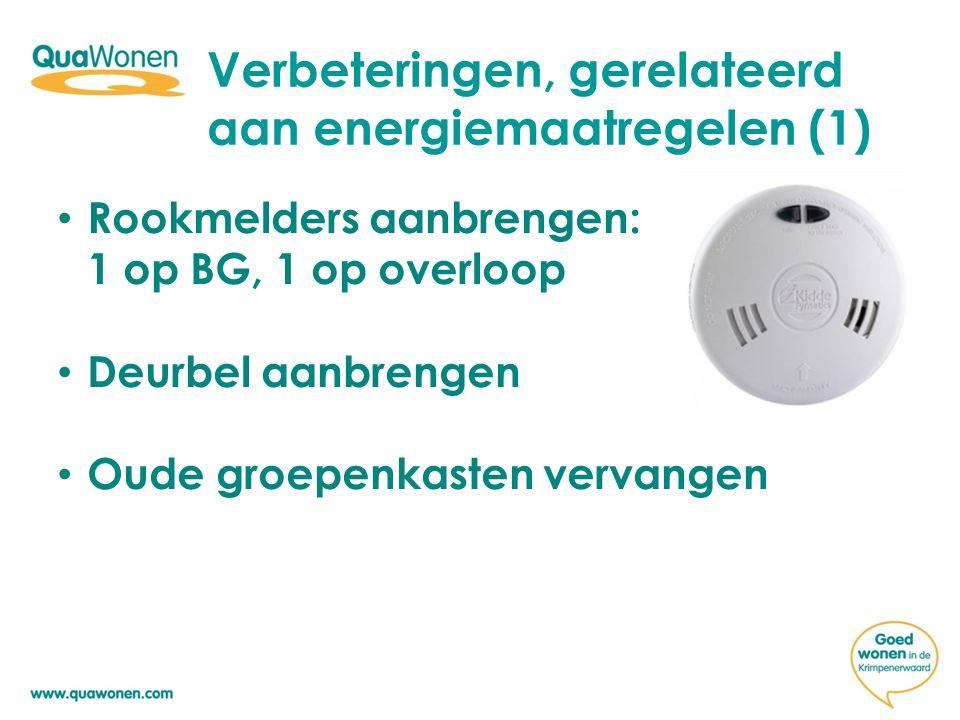 Verbeteringen, gerelateerd aan energiemaatregelen (1)