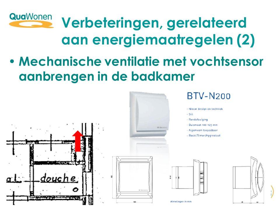 Verbeteringen, gerelateerd aan energiemaatregelen (2)