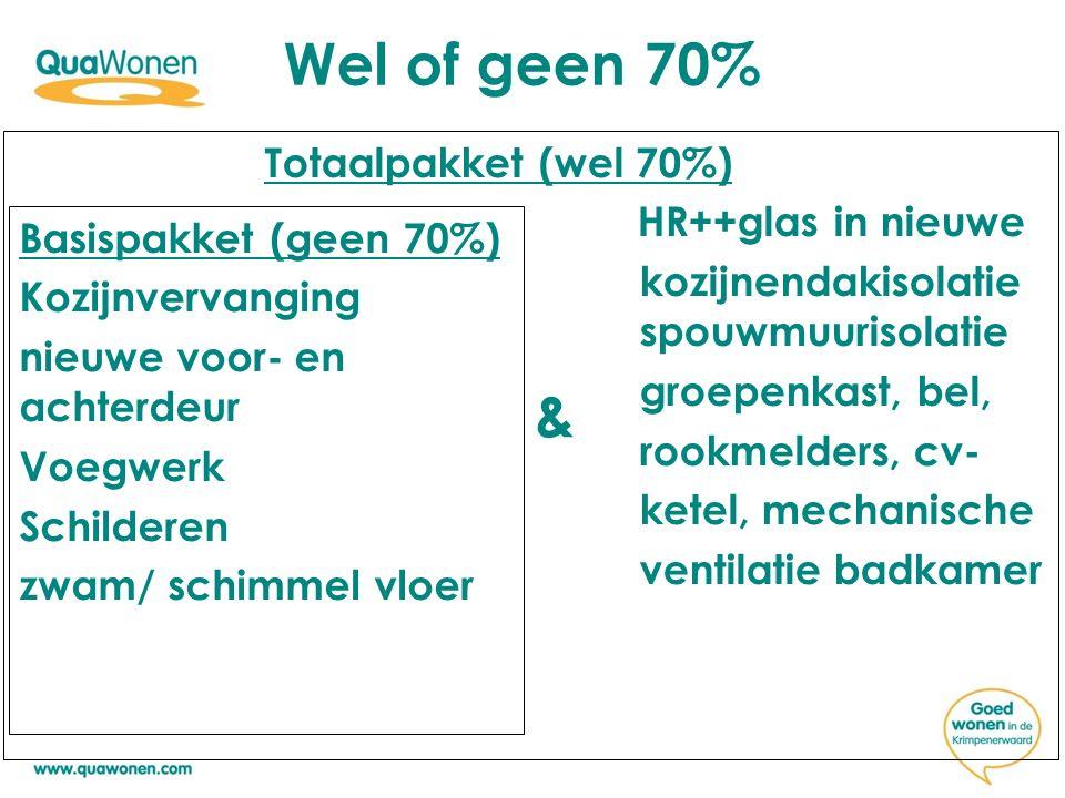 Wel of geen 70%