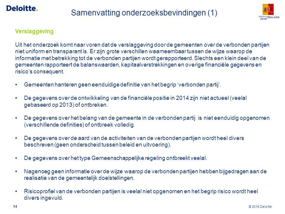 Samenvatting onderzoeksbevindingen (2)