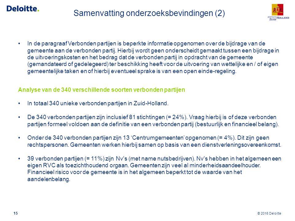 Samenvatting onderzoeksbevindingen (3)