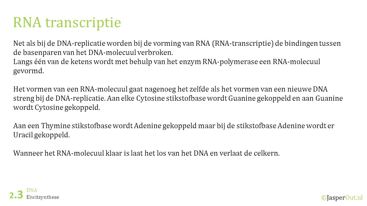 RNA transcriptie