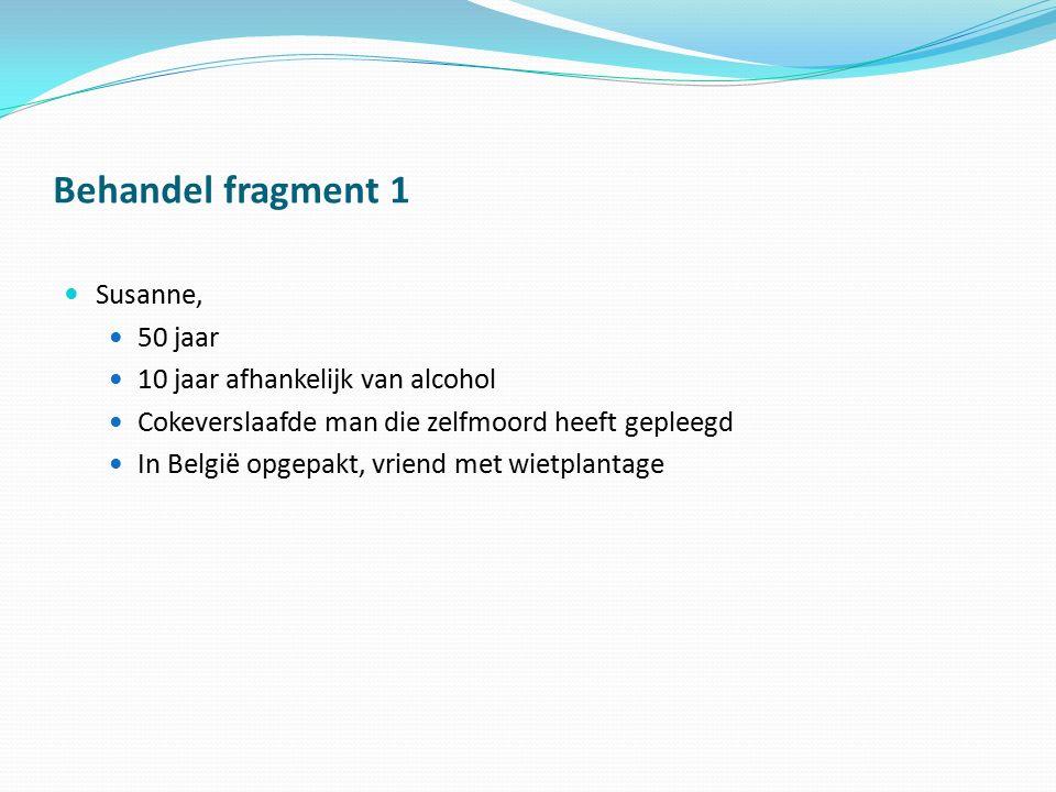 Behandel fragment 1 Susanne, 50 jaar 10 jaar afhankelijk van alcohol
