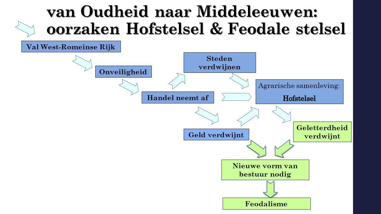 van Oudheid naar Middeleeuwen: oorzaken Hofstelsel & Feodale stelsel