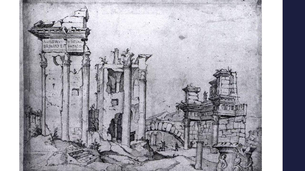 Maarten van Heemskerck 16 e eeuw (1532-1536) – Forum van Nerva D. m. v