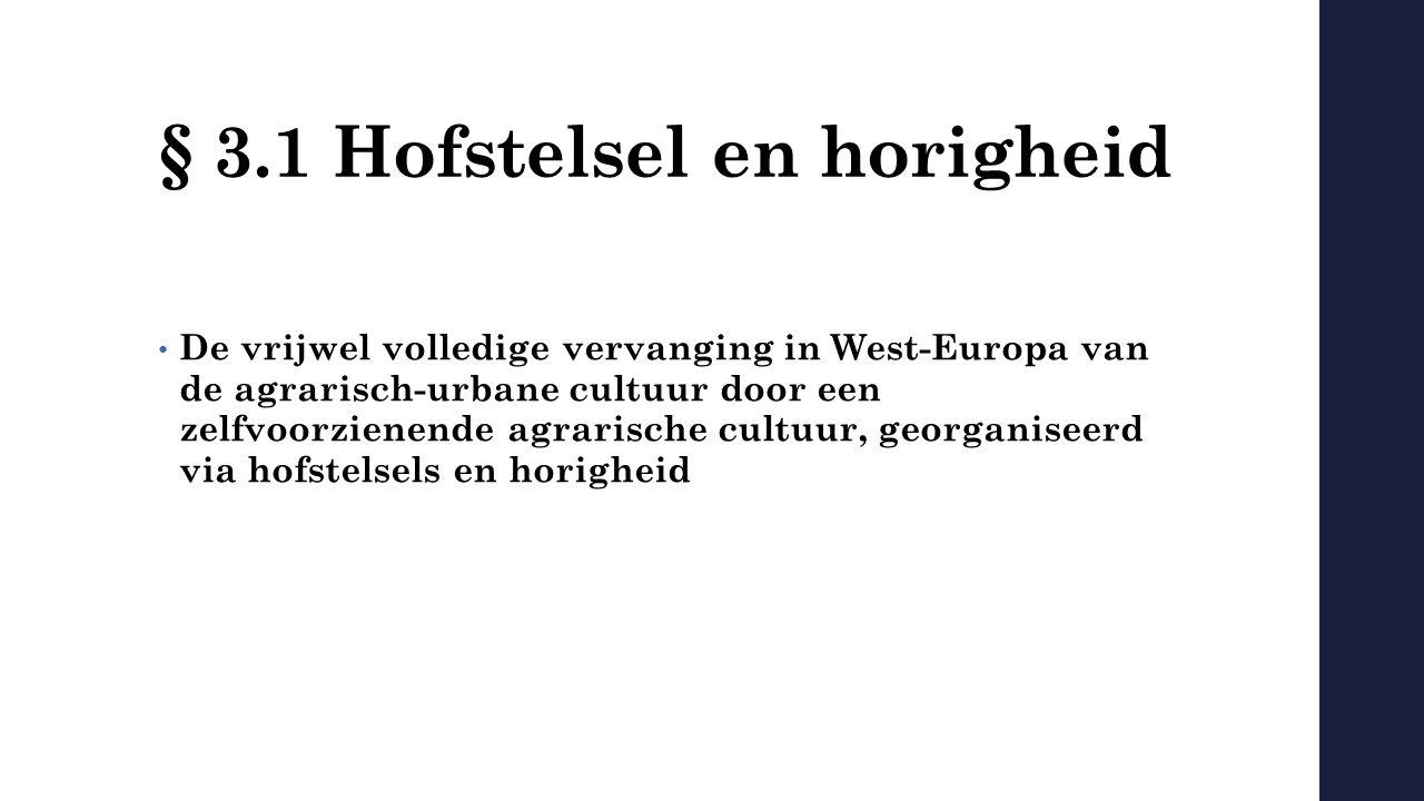 § 3.1 Hofstelsel en horigheid