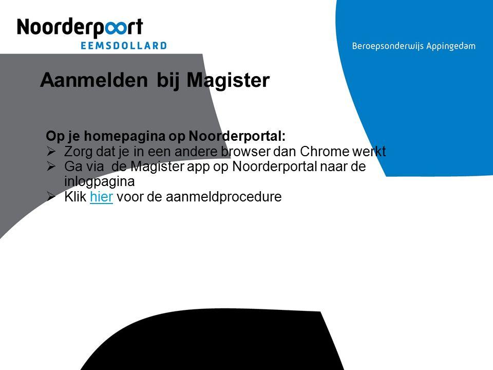 Aanmelden bij Magister