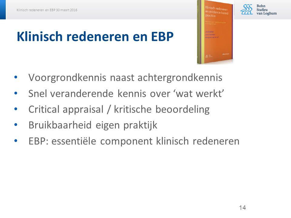 Klinisch redeneren en EBP