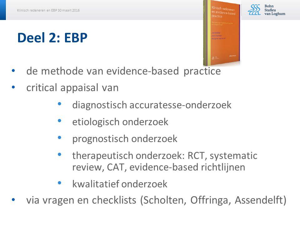 Deel 2: EBP de methode van evidence-based practice