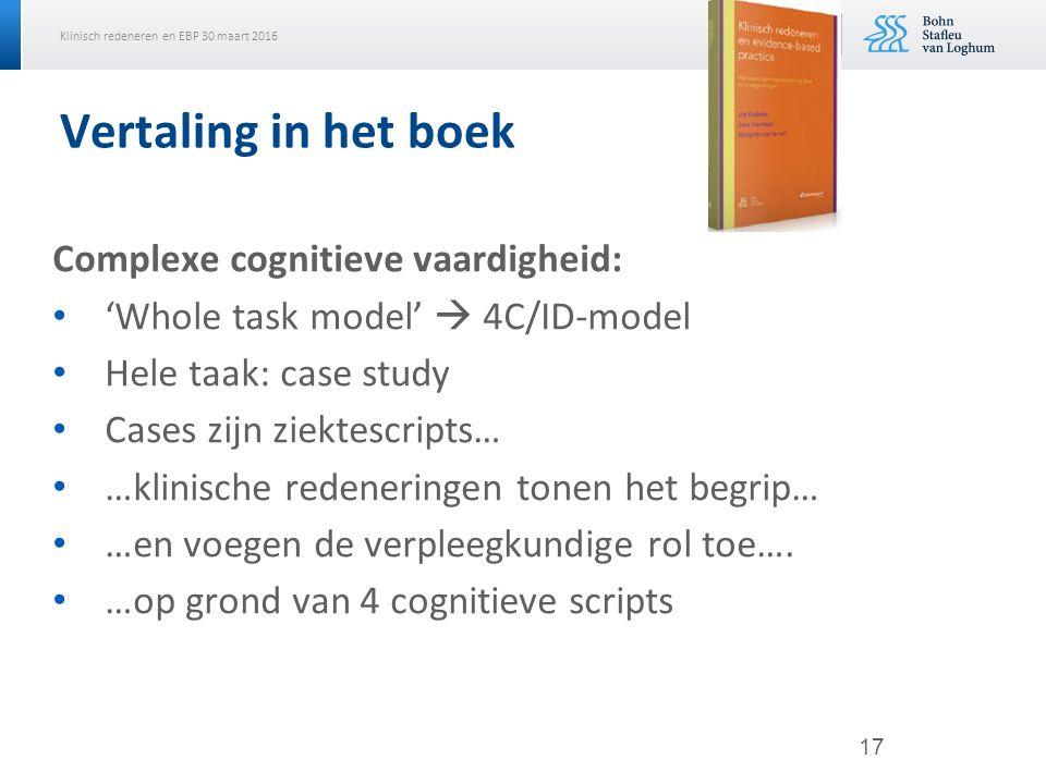 Vertaling in het boek Complexe cognitieve vaardigheid: