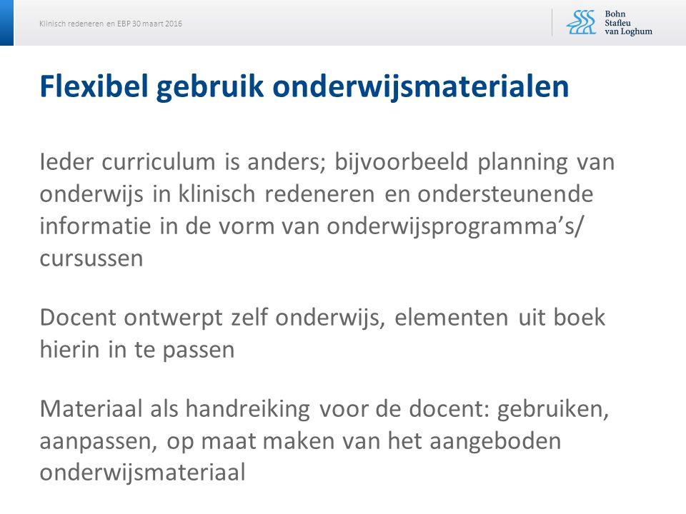 Flexibel gebruik onderwijsmaterialen