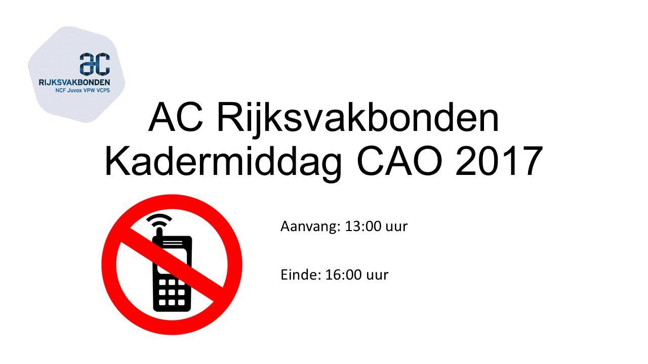 AC Rijksvakbonden Kadermiddag CAO 2017