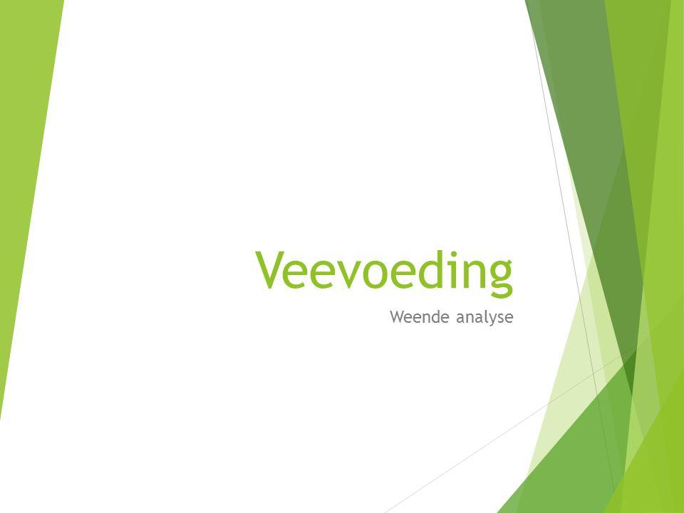 Veevoeding Weende analyse