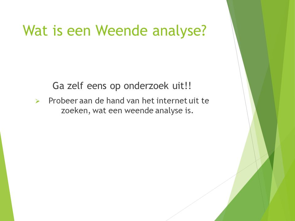 Wat is een Weende analyse