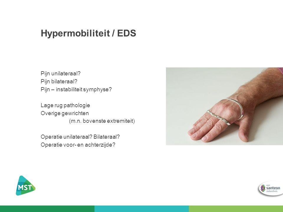 Hypermobiliteit / EDS