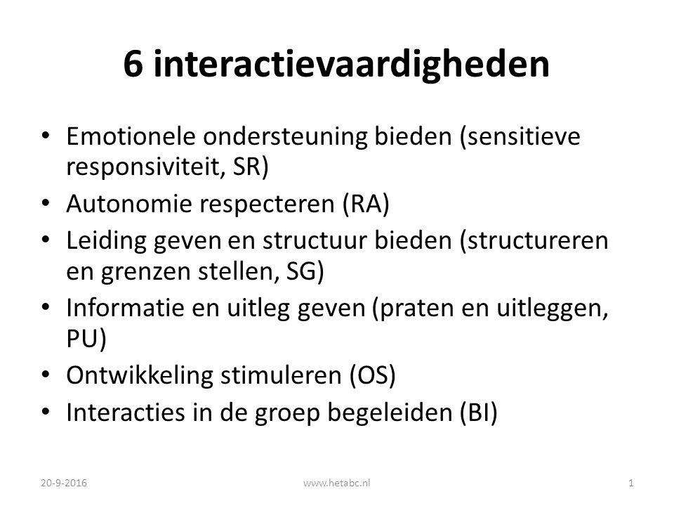 6 interactievaardigheden