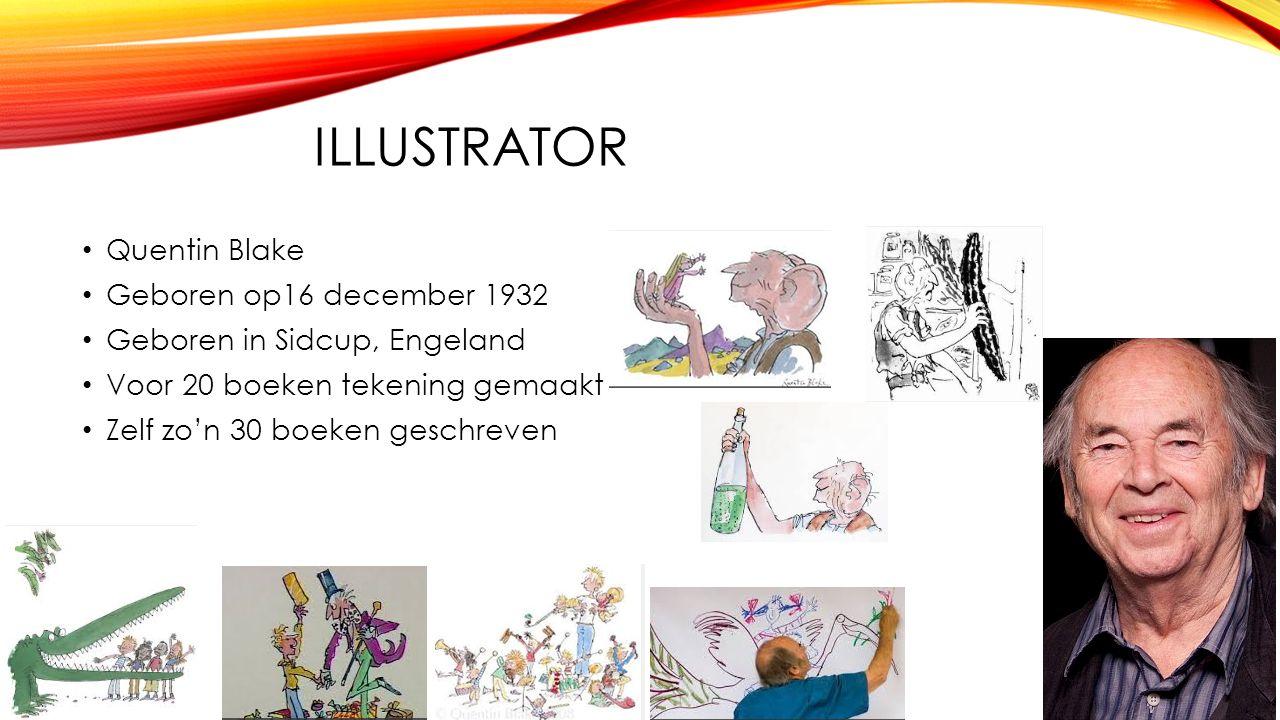 Illustrator Quentin Blake Geboren op16 december 1932