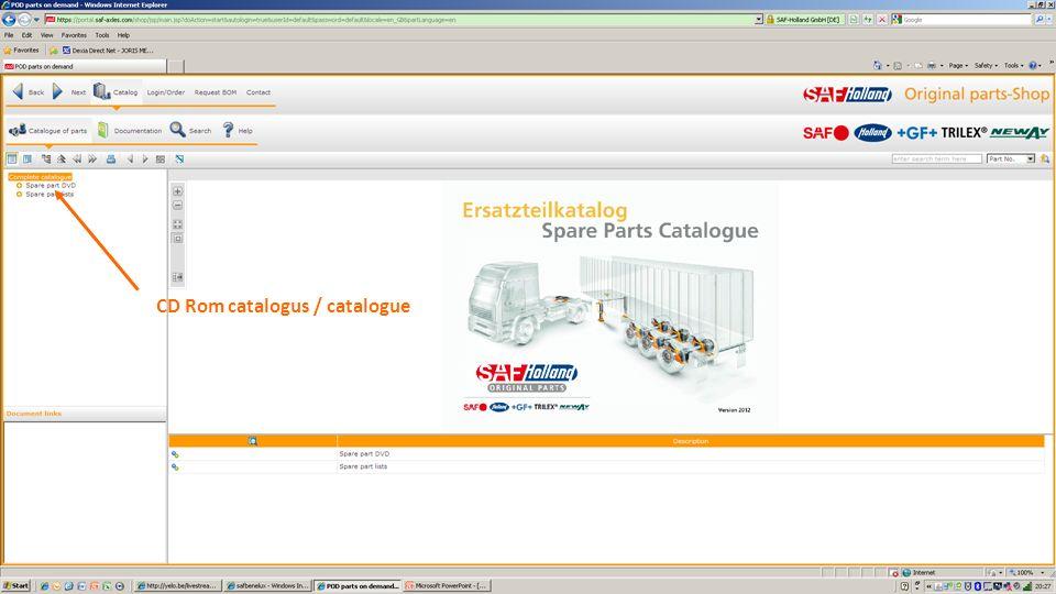 CD Rom catalogus / catalogue