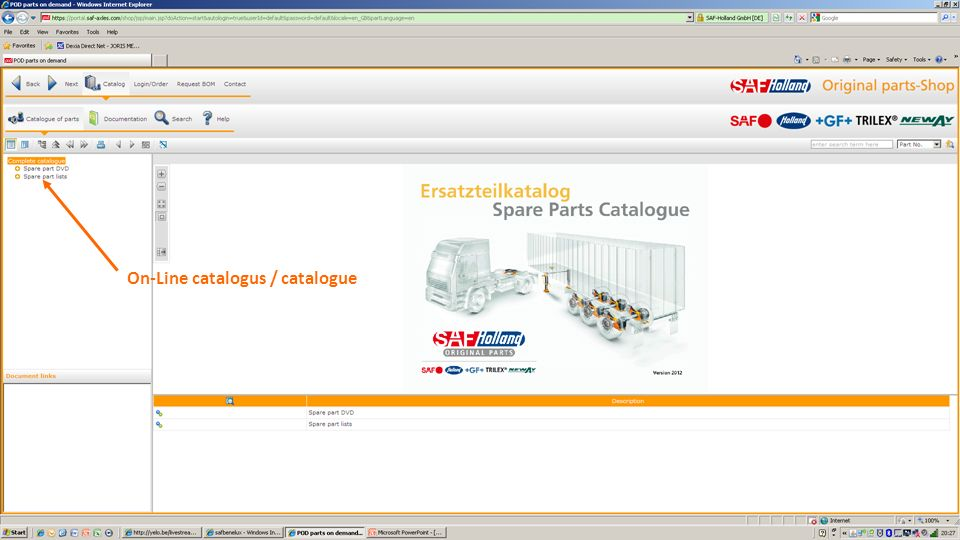 On-Line catalogus / catalogue