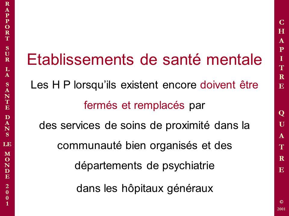 Etablissements de santé mentale