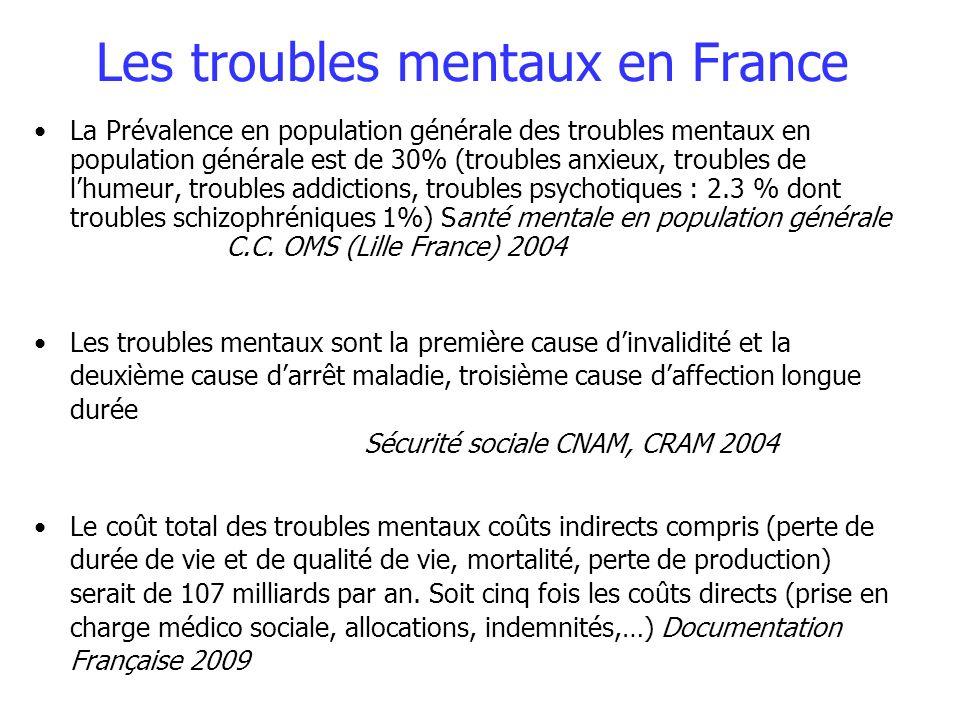 Les troubles mentaux en France