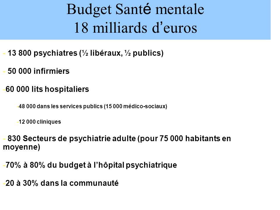 Budget Santé mentale 18 milliards d'euros