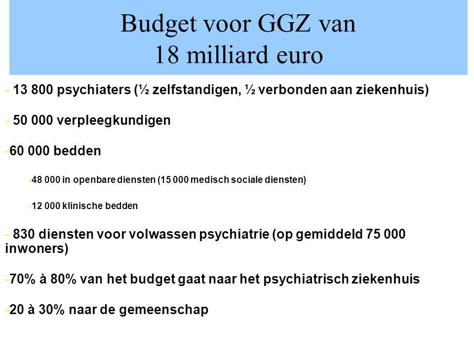 Budget voor GGZ van 18 milliard euro