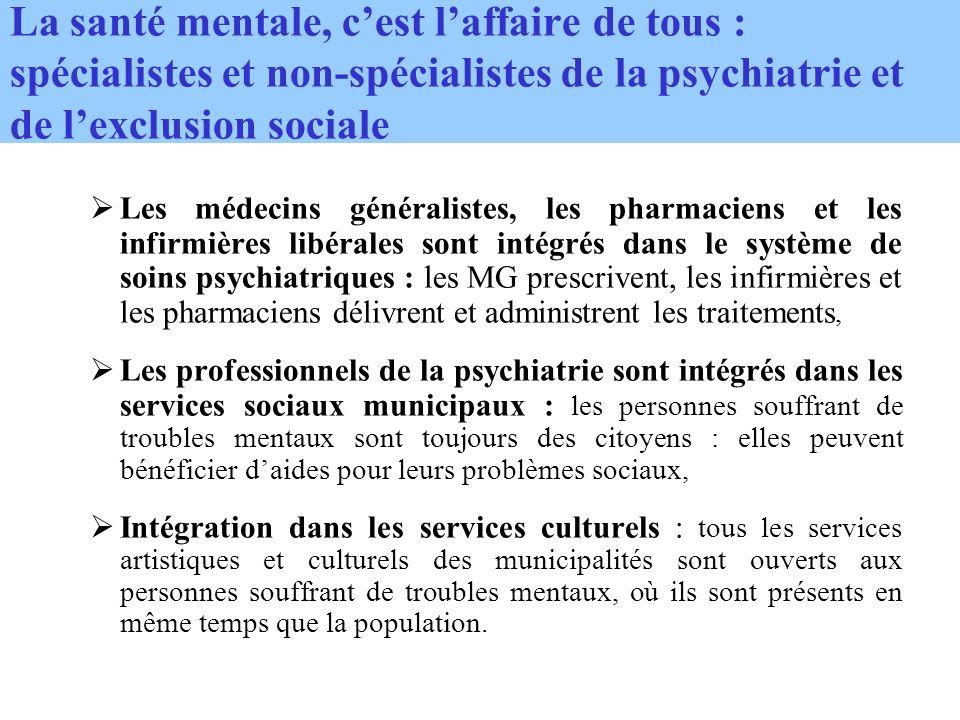 La santé mentale, c'est l'affaire de tous : spécialistes et non-spécialistes de la psychiatrie et de l'exclusion sociale