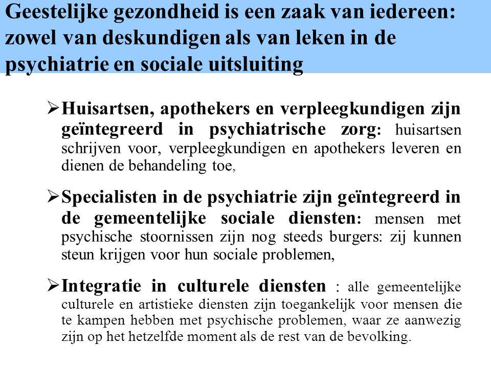 Geestelijke gezondheid is een zaak van iedereen: zowel van deskundigen als van leken in de psychiatrie en sociale uitsluiting