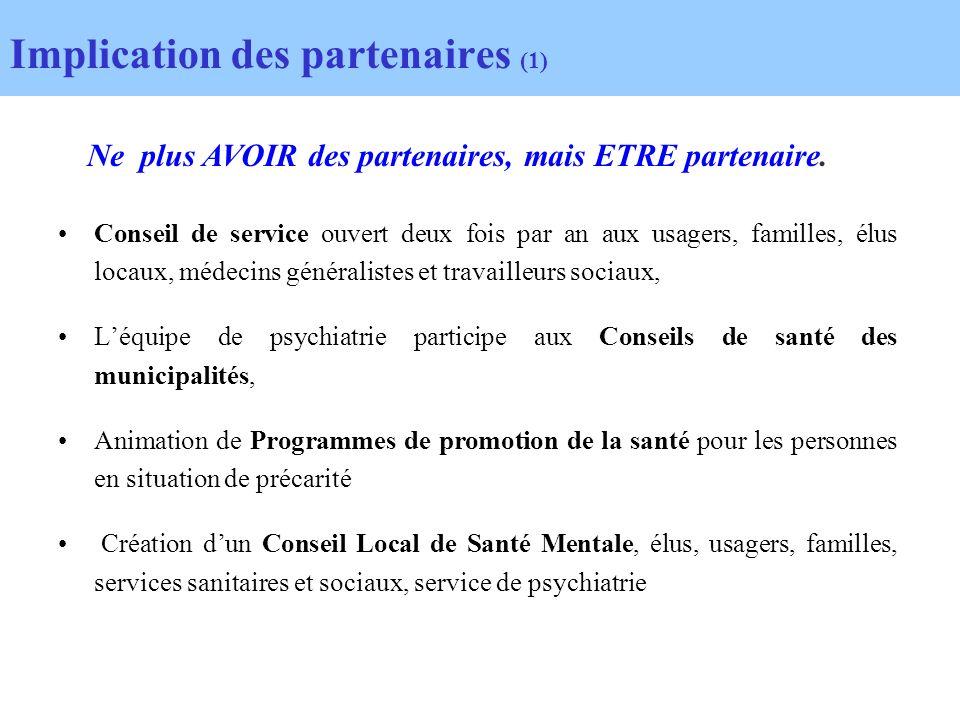 Implication des partenaires (1)