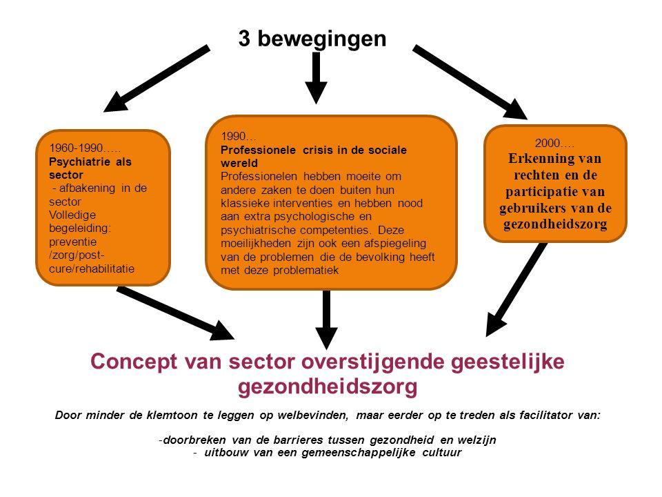 3 bewegingen 1990… Professionele crisis in de sociale wereld.
