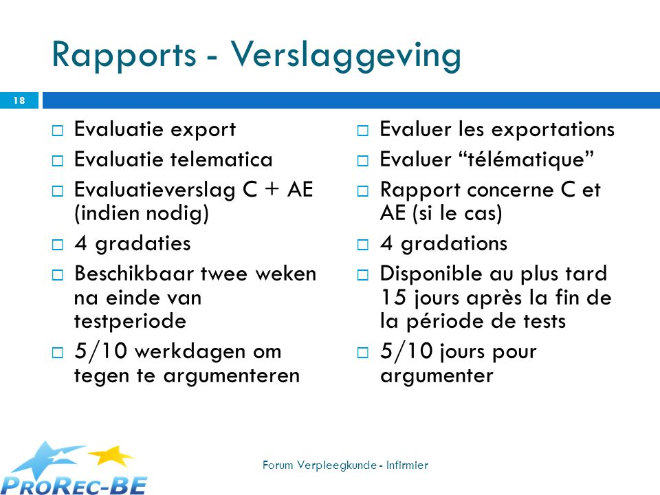 Rapports - Verslaggeving