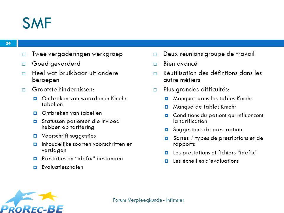 SMF Twee vergaderingen werkgroep Goed gevorderd