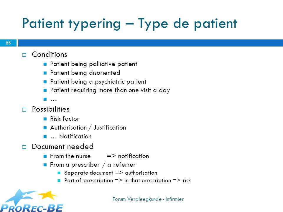 Patient typering – Type de patient