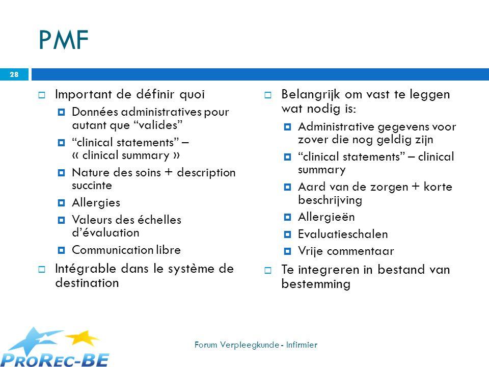 PMF Important de définir quoi